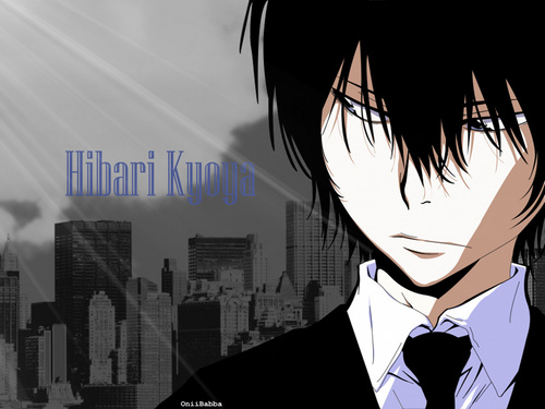 Katekyo Hitman Reborn! wallpaper containing a business suit and a suit called Hibari Kyoya