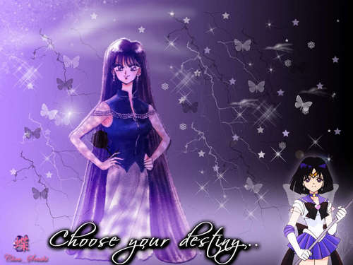 Sailor Saturn karatasi la kupamba ukuta probably with a chajio, chakula cha jioni dress and a kanzu, gown called Hotaru/Saturn/SS/M9