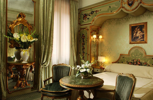 Masquerade wallpaper with a drawing room called Hotel Gritti Palace