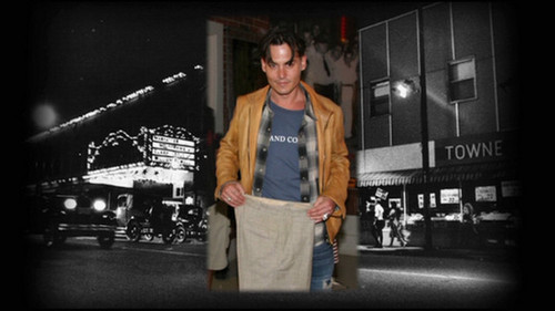 Johnny Depp wallpaper possibly with a well dressed person, long trousers, and a legging entitled JOHNNY DEPP 2008 - set film  Public Enemies