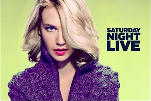 January Jones wallpaper probably containing a pullover and a portrait titled January Jones - SNL Promotional Photos