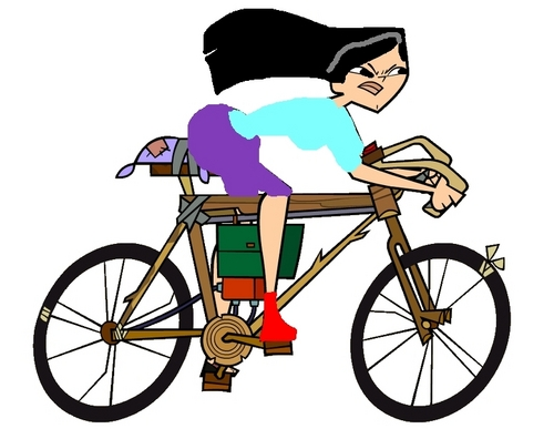 Me as Heather riding a bike (I know it's crappy)