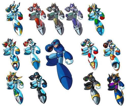 Megaman achtergrond entitled Megaman X All armors