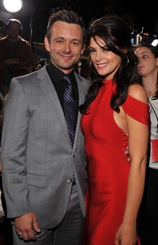 Michael Sheen and Ashley Greene at the New Moon premiere