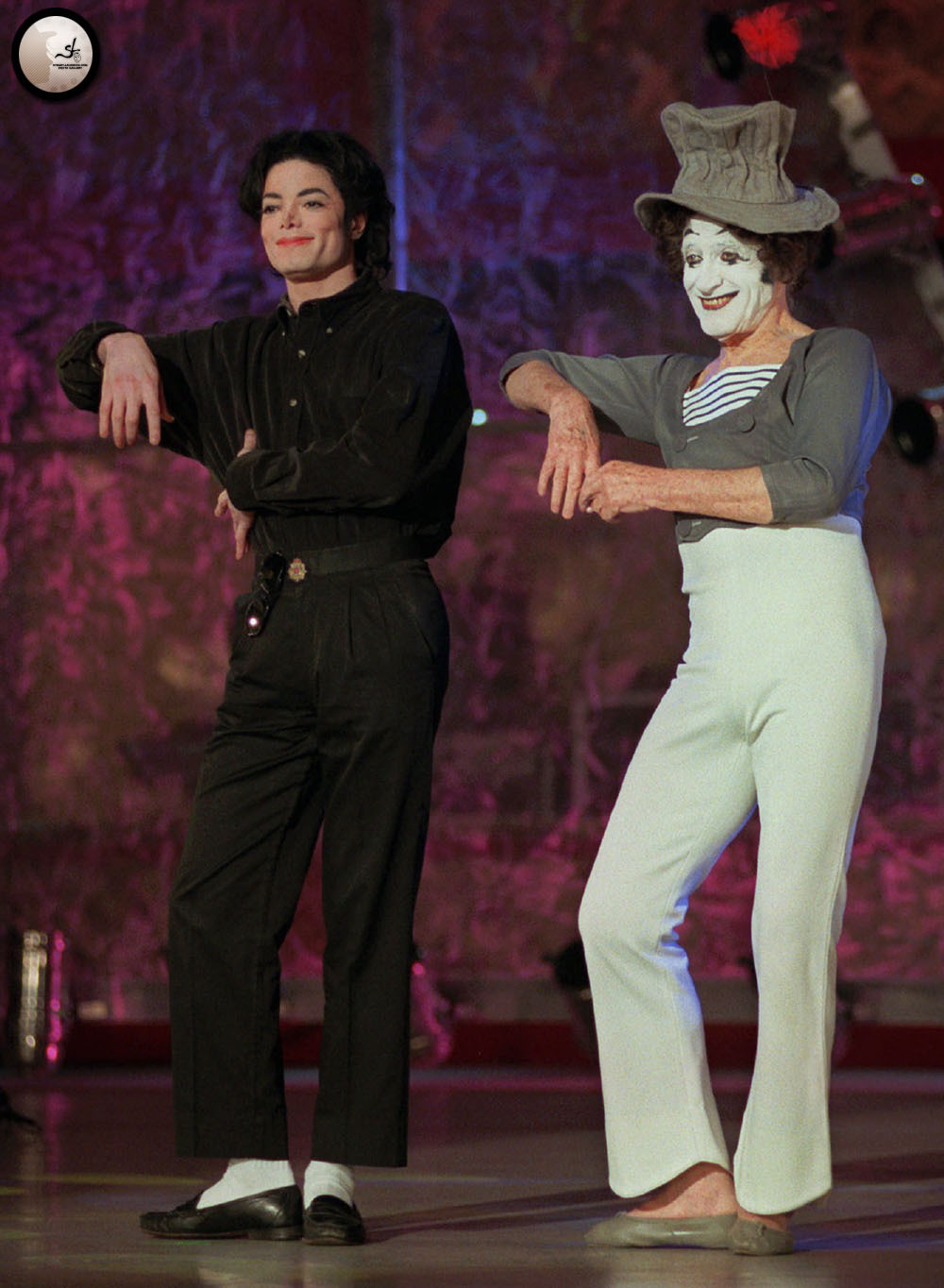 Michael with Marcel  - michael-jackson photo