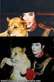 Mike and Lion Cub - michael-jackson photo