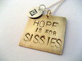 Personalized Hand Stamped frases from House