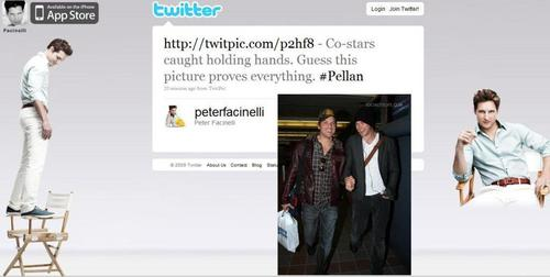 Peter facinelli tweets about hand holding and costars!