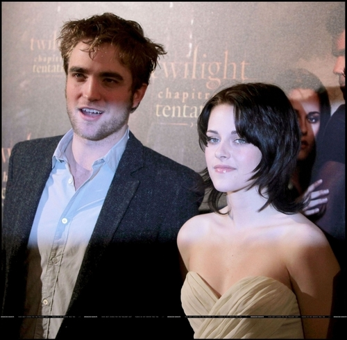 Twilight Series wallpaper probably containing a business suit called Photocall in Paris ~ France November 10