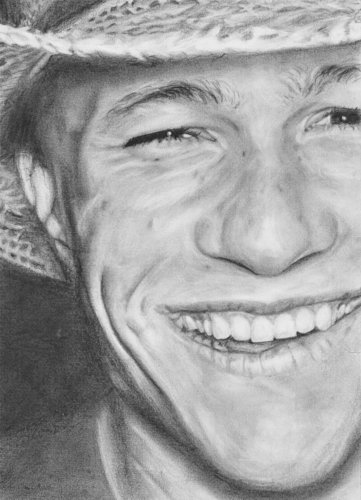 Portrait of Laughing Heath Ledger