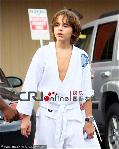 Prince (karate class) before shopping