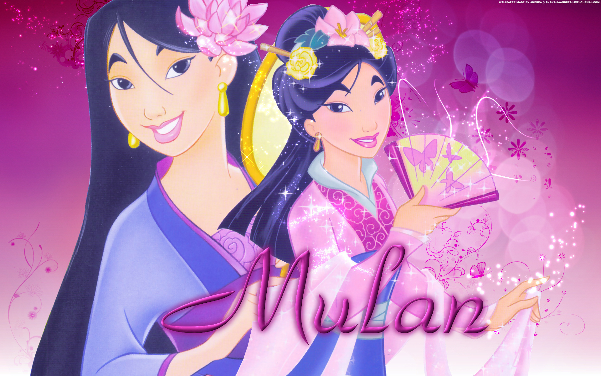 Princess Mulan cartoon Disney