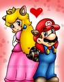 Racoon Mario and peach, pichi