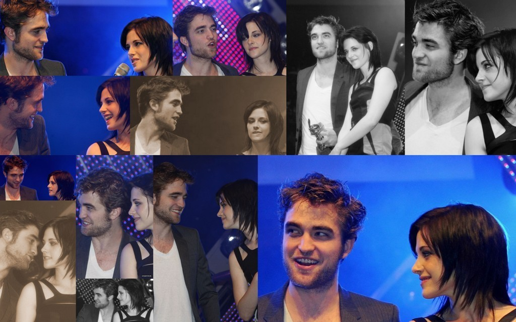 Robert Pattinson & Kristen Stewart collages
