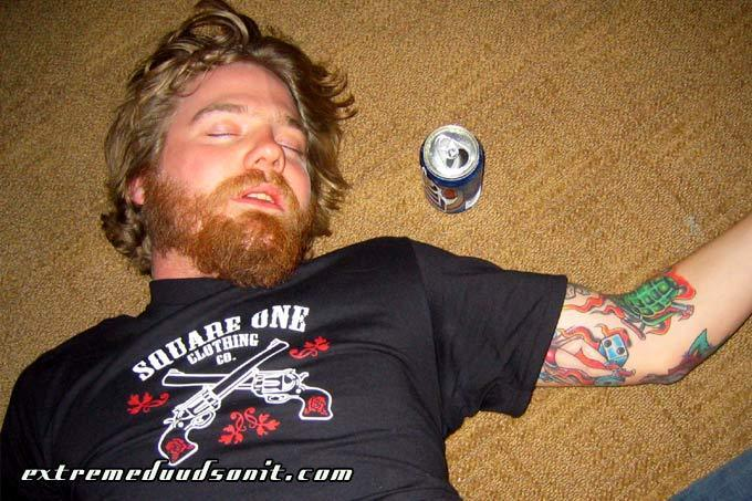 Ryan Dunn - passed out