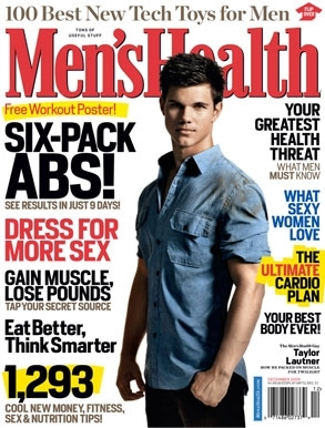 Taylor Lautner In Men's Health Magazine