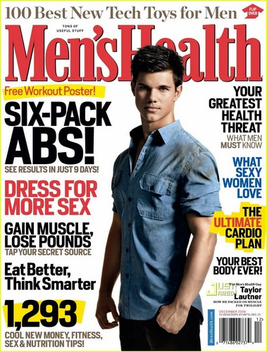 Taylor on the cover of 'Men's Health'