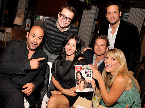 Cougar Town wallpaper containing a business suit called The Cast At Tv Guides Hot List