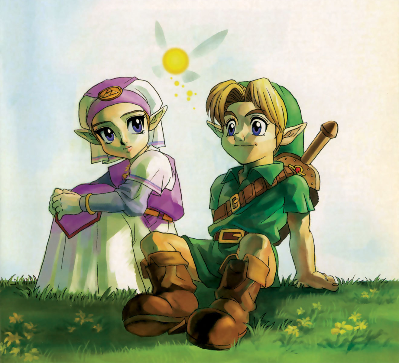 The Ocarina of Time The Legend of Zelda Ocarina of TimeZelda And Link Kiss Ocarina Of Time