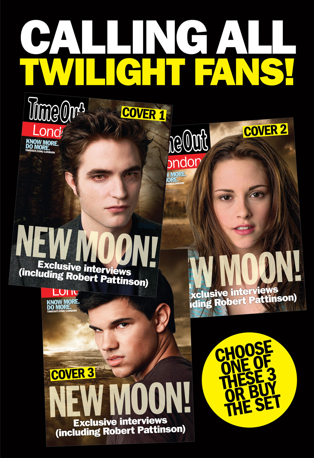 Time Out Londres Covers NEW MOON Collector's set