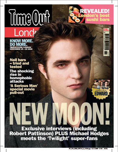 Twilight Series wallpaper containing anime titled Time Out London magazine - New Moon Collectors Set