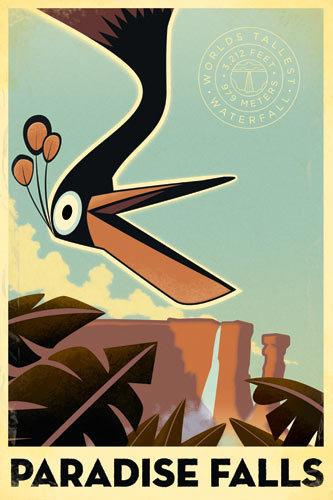 Pixar fond d'écran containing animé titled Up - Retro Posters