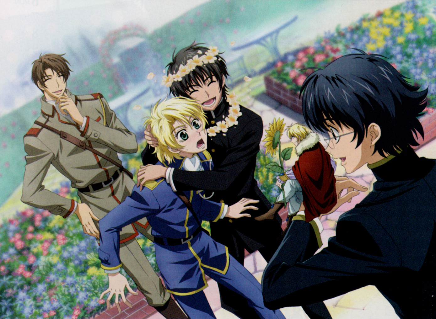 Yurri and wolfram :) and the gang too i guess.. - Kyo Kara ... Nabari No Ou Characters
