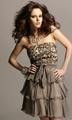 bronze prom dress