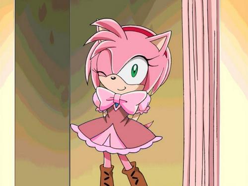 cute pink dress amy rose