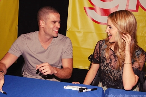 dianna agron mark salling photoshoot. dianna agron and mark salling