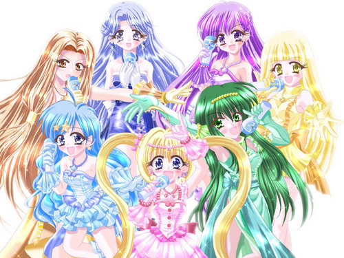 Pichi Pichi Pitch-mermaid melody karatasi la kupamba ukuta probably with anime titled espero que les guste