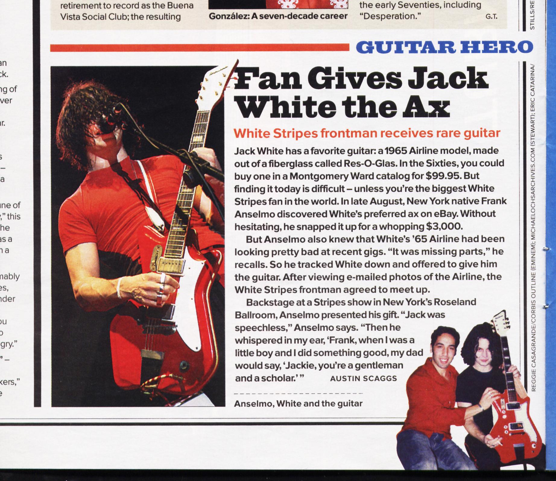 frank anselmo jack white stripes rolling stone magazine mojo magazine