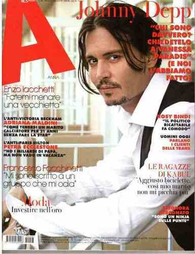 "johnny depp-2009 - Italian weekly magazine ""Anna"""