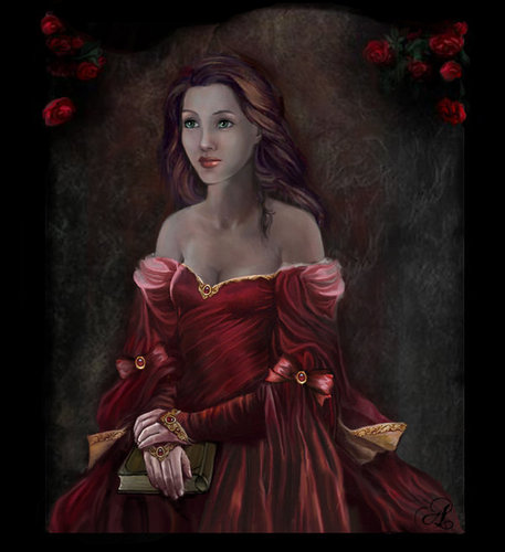 noble lady in red