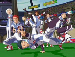 Galactik Football پیپر وال possibly containing a وکٹ called snow kids