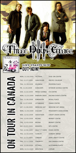 2009 Three Days Grace Tour Banner