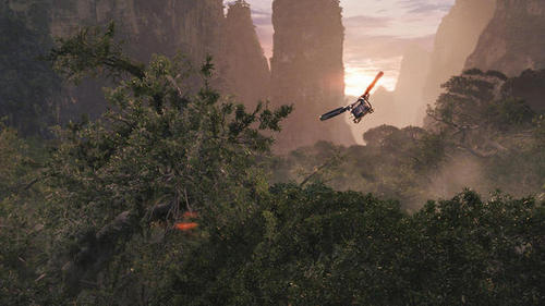 Avatar wallpaper possibly with a biplane, a helicopter, and a single prop entitled 20th Century Fox's Avatar