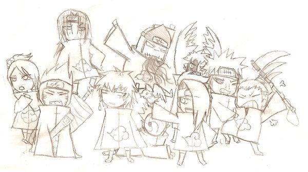 Akatsuki Chibis(sketch)