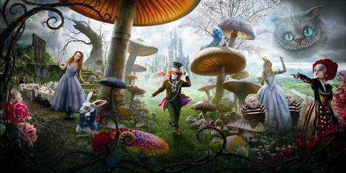 Tim burton fond d'écran called Alice in Wonderland