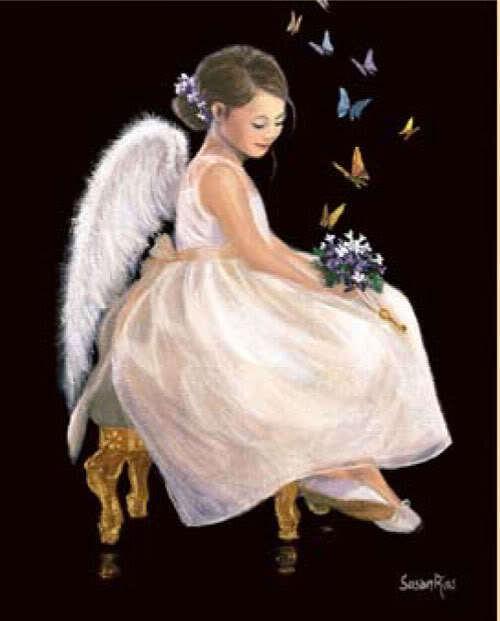 Angel With Butterflies - Butterflies Fan Art (9105919) - Fanpop Animated Pink Butterflies