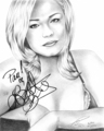 Autographed Pencil Drawing of Leann Rimes - leann-rimes fan art