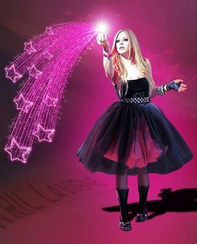 Avril Lavigne wallpaper probably containing a polonaise, a cocktail dress, and an overskirt titled Avril Lavigne