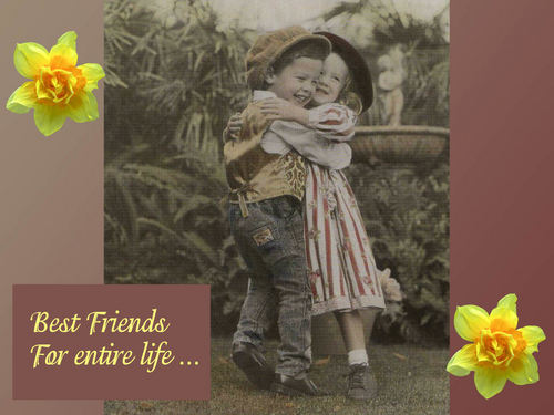 KEEP SMILING wallpaper with a bouquet entitled Best Friends