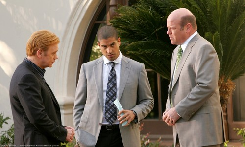 Les Experts - Miami fond d'écran containing a business suit titled CSI: MIAMI-8.11-Delko for the Defense-Promotional photos