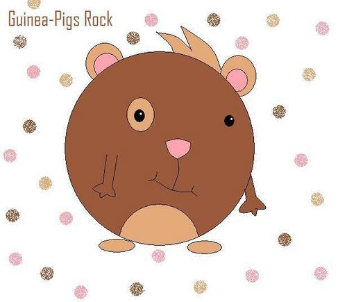 Guinea Pigs wallpaper probably containing a venn diagram called Cartoon Guinea Pig