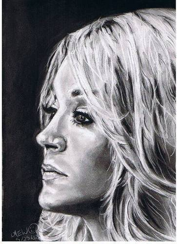 Carrie Underwood wallpaper titled Charcoal Portrait of Carrie Underwood