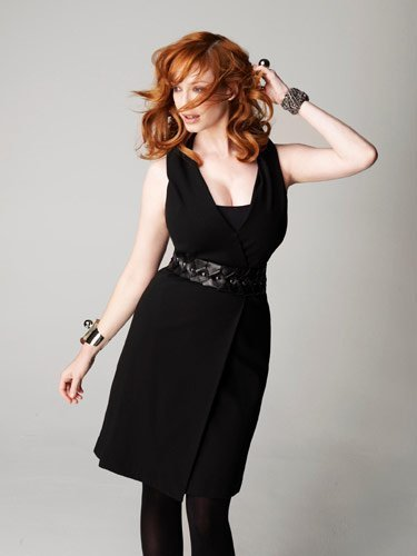 Christina Hendricks wallpaper possibly with a cocktail dress entitled Christina Hendricks | Marie Claire Photoshoot