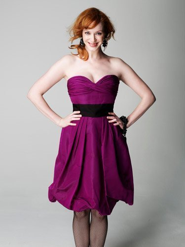 Christina Hendricks achtergrond with a avondeten, diner dress, a cocktail dress, and a japon, jurk entitled Christina Hendricks | Marie Claire Photoshoot
