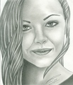 Christina Ricci Smiling with Pursed Lips - christina-ricci fan art
