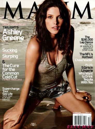 Ashley Greene wallpaper probably containing a sign and attractiveness titled December 2009 Maxim